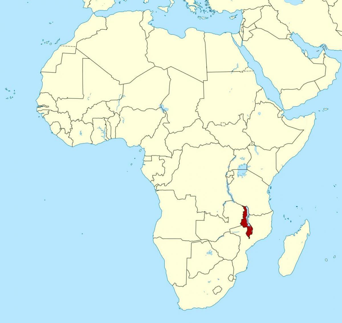 Karte Afrika.Malawi Landkarte Afrika Karte Von Malawi Landkarte Afrika